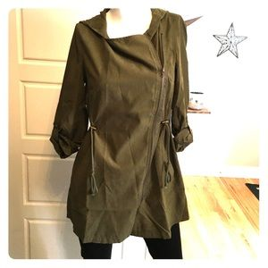 NEW army green light weight jacket
